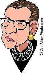 Judge Ruth Bader Ginsburg - Caricature of Supreme Court ...