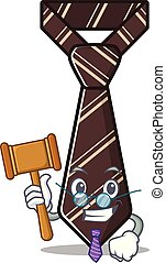 judge smiling tie isolated on the cartoon