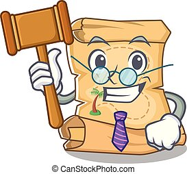 Judge treasure map isolated with the cartoon