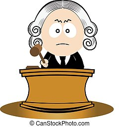 Judge using his gavel. Vector illustration for you design