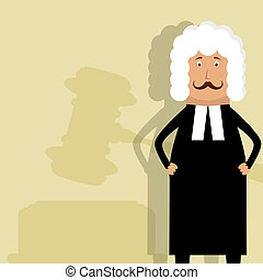 Vector picture with judge