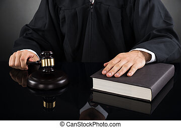 Judge With Gavel And Book