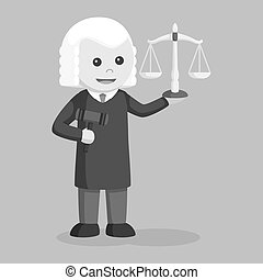 Judge with gavel and scale