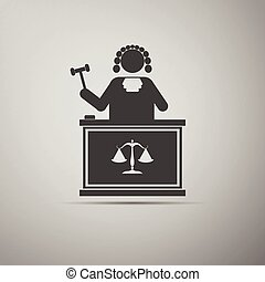 Judge With Gavel icon.