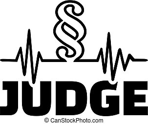 Judge with paragraph cardiology line