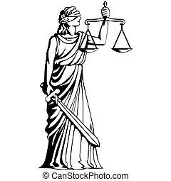Femida - goddess of judgement