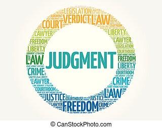 Judgement word cloud