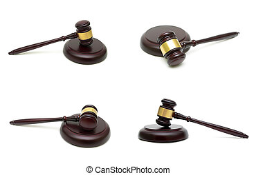judges gavel isolated on white background.