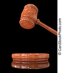 Judge's gavel up