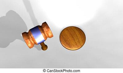 Judges Hammer - 3d Judges Hammer confirming a Decision
