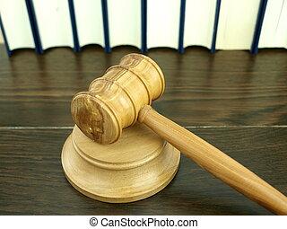 judge?s, marteau, et, pile, de, légal, livres