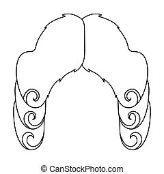 Barrister wig Vector Clip Art Royalty Free. 75 Barrister ...