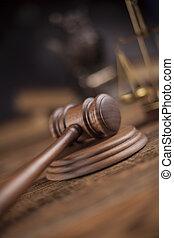 Judges wooden gavel, ambient light vivid theme