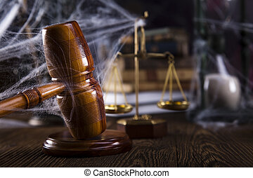 Judges wooden gavel