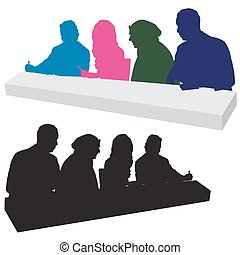 Judging Panel Silhouette - An image of a panel of talent ...