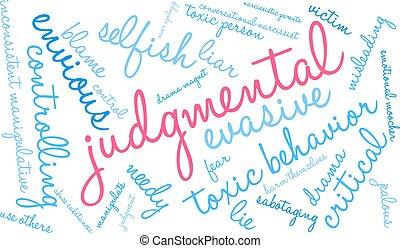 Judgmental Word Cloud