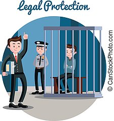 judiciaire, droit & loi, système, gabarit
