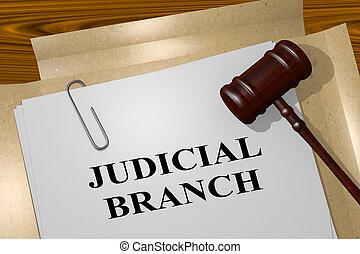 JUDICIAL BRANCH concept