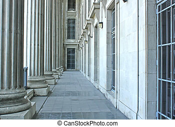 Judicial System Building Architecture in the Early Morning