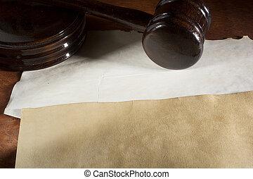 Judicial wooden hammer