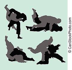 judo, sport, sylwetka