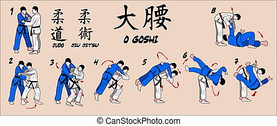 Judo technique step by step