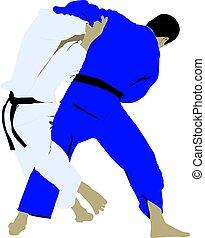 judo wrestling fight
