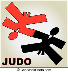 judo wrestling poster - Martial arts karate, taekwondo,...
