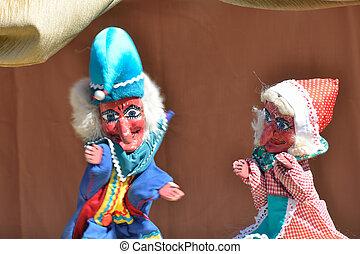 judy, marionetka, poncz, pokaz