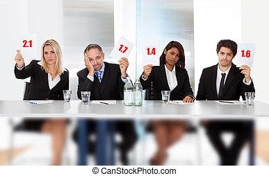 jueces, malo, raya, tenencia, señales, panel