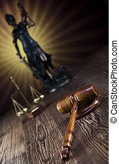 jueces, martillo, y, escalas