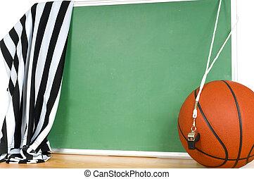 juego, árbitro, o, funcionario