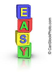juego, bloques, :, fácil