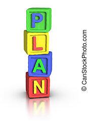 juego, :, bloques, plan