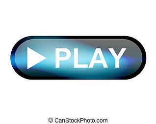 juego, botón