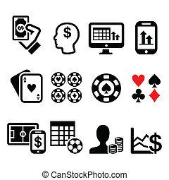 juego, casino, el apostar, ic, en línea