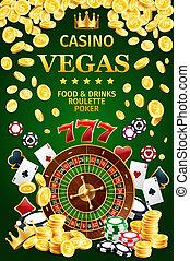 juego, casino, en línea, internet, cartel