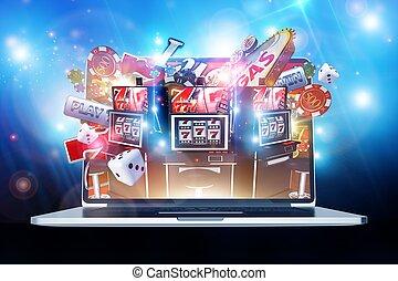 juego, casino, en línea