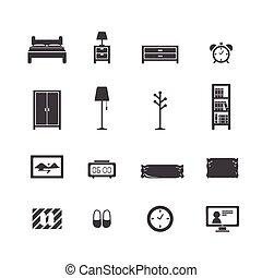 juego de dormitorio, icono