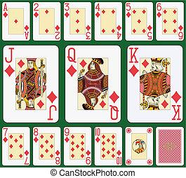 juego del diamante, grande, índice