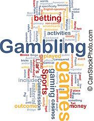 juego, el apostar, concepto, plano de fondo