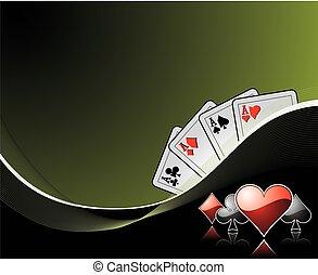 juego, elementos, plano de fondo, casino