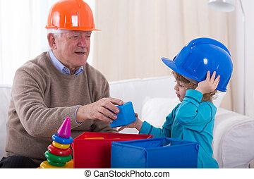 juego, en, constructores