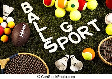 juego, equipo de deportes, natural, colorido, tono