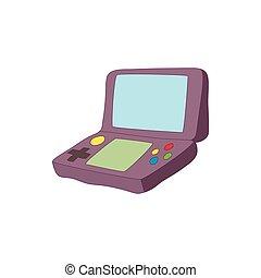 juego, estilo, tableta, teclado, icono, caricatura