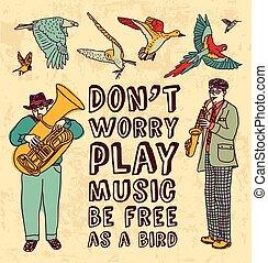 juego, grunge, color, música, plano de fondo, tarjeta