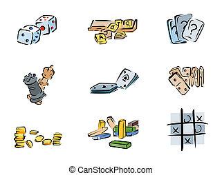 juego, iconos