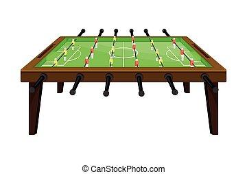 juego, ilustración, tabla, o, vector, foosball, fútbol, ...