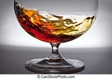 juego, light., alcohol, vidrio