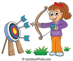 juego, niños, tema, imagen, 6